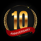 Template Logo 10 Years Anniversary Vector Illustration. EPS10r Royalty Free Stock Images