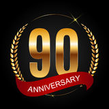 Template Logo 90 Years Anniversary Vector Illustration Royalty Free Stock Photography