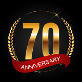 Template Logo 70 Years Anniversary Vector Illustration. EPS10r royalty free illustration