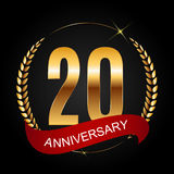Template Logo 20 Years Anniversary Vector Illustration Royalty Free Stock Image