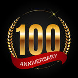 Template Logo 100 Years Anniversary Vector Illustration. EPS10r Royalty Free Stock Photos