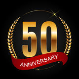 Template Logo 50 Years Anniversary Vector Illustration. EPS10r Stock Image