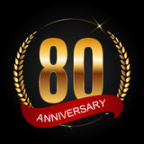 Template Logo 80 Years Anniversary Vector Illustration. EPS10r Royalty Free Stock Photos