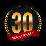 Template Logo 30 Years Anniversary Vector Illustration. EPS10r Royalty Free Stock Images