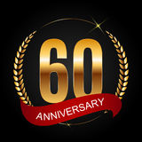 Template Logo 60 Years Anniversary Vector Illustration Stock Image