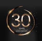Template Logo 30 Years Anniversary Vector Illustration. EPS10 Stock Image