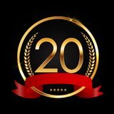 Template Logo 20 Years Anniversary Vector Illustration. EPS10 Royalty Free Stock Images