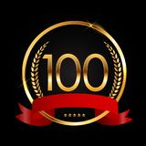 Template Logo 100 Years Anniversary Vector Illustration. EPS10 Stock Photography