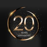 Template Logo 20 Years Anniversary Vector Illustration. EPS10 Stock Photo
