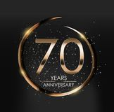 Template Logo 70 Years Anniversary Vector Illustration. EPS10 Royalty Free Stock Images