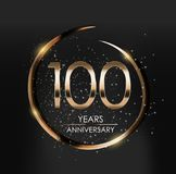 Template Logo 100 Years Anniversary Vector Illustration. EPS10 Stock Photos