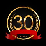 Template Logo 30 Years Anniversary Vector Illustration. EPS10 Stock Photos