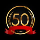 Template Logo 50 Years Anniversary Vector Illustration. EPS10 Stock Photography