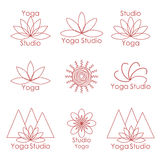 Template for logo of yoga studio Stock Images