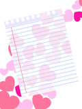 Template of a love card Royalty Free Stock Photo