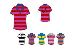 Template of man yarn dyed polo shirt design Royalty Free Stock Images