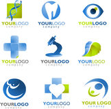Template of medical logo royalty free illustration