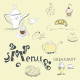 Template for menu stock illustration
