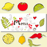 Template for menu Royalty Free Stock Images