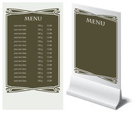 Template for menu Stock Photo
