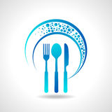 Template for menu card with cutlery Stock Images
