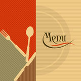 Template for menu card with cutlery Royalty Free Stock Image