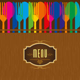 Template for menu card with cutlery Royalty Free Stock Images