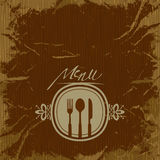 Template for menu card with cutlery Royalty Free Stock Photography