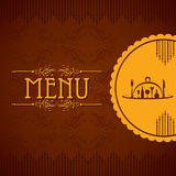 Template for menu card with cutlery Royalty Free Stock Photos