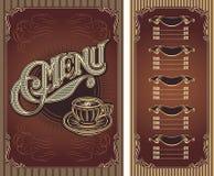 Template menu for hot tea coffee restaurant Royalty Free Stock Photo