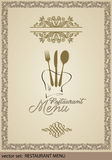 Template for Menu, Label for Menu-Card Royalty Free Stock Images