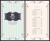 Template menu with price. With cutlery fork, spoon and knife vector illustration