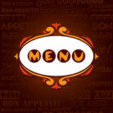Template menu for restaurant, cafe, bare. Royalty Free Stock Photo