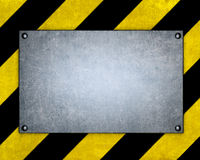 Template of metal plate Royalty Free Stock Image