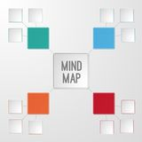 Template of mind map infographic Stock Images