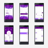Template mobile application interface design. For website and mobile app Royalty Free Stock Images