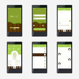 Template mobile application interface design. Royalty Free Stock Photography