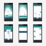 Template mobile application interface design. Royalty Free Stock Photo