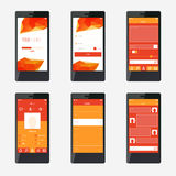 Template mobile application interface design. Stock Image