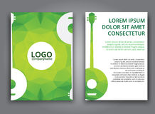 Template music polygonal brochure Stock Photo