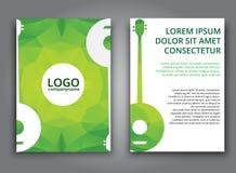 Template music polygonal brochure Stock Photo