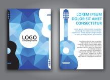 Template music polygonal brochure Royalty Free Stock Photo