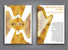 Template music polygonal brochure Stock Photos