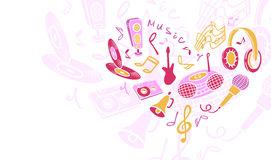 Template musical objects. Royalty Free Stock Photos