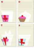 Template for note paper. Set 1 Royalty Free Stock Photos