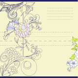Template for note paper. Universal template for greeting card, web page, background Royalty Free Stock Photos