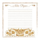 Template for note paper Royalty Free Stock Photography