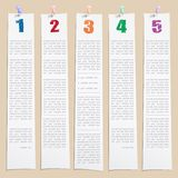 Template with numbers and columns Stock Image