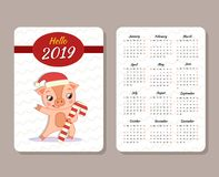 Free Template Of Calendar Royalty Free Stock Photography - 125123847