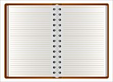The template of the Open Organizer is brown. Can be used for your design. Vector illustration Stock Image